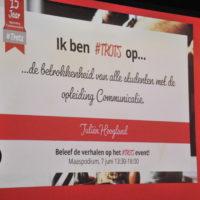 Uitgelicht – 15 jarig bestaan Opleiding Communicatie #trots