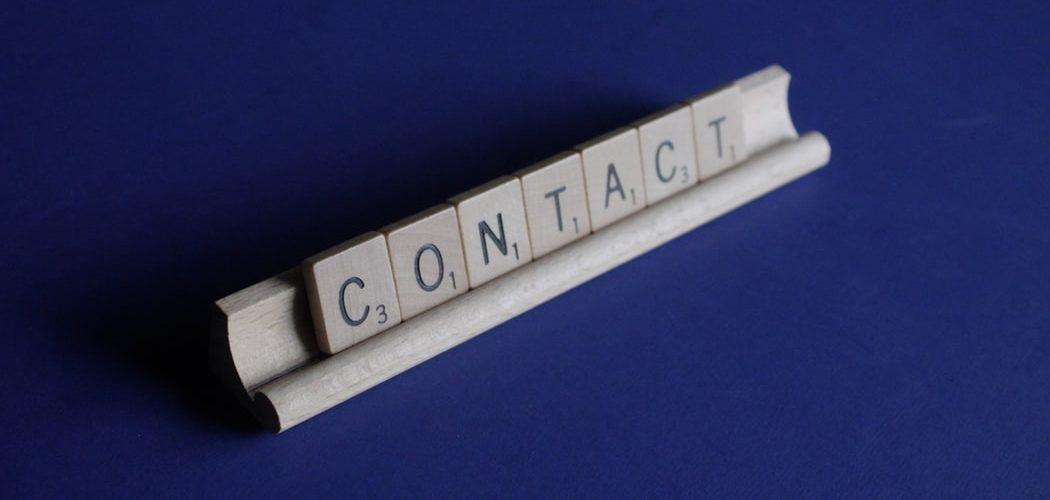 Contacteren kan je leren