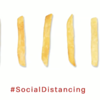 Social distancing in 99 woorden